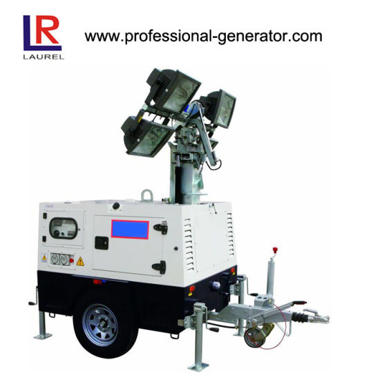 China 10/11 KVA Diesel Mobile Light Tower, Portable