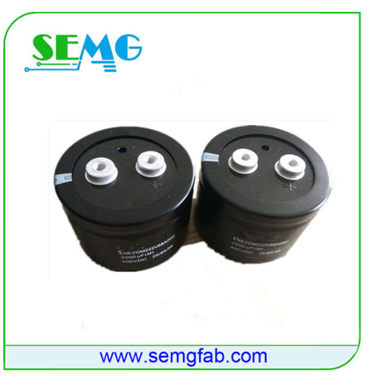 High Voltage Electrolytic Capacitor with Ce RoHS Approval (SEMG-H) pictures & photos