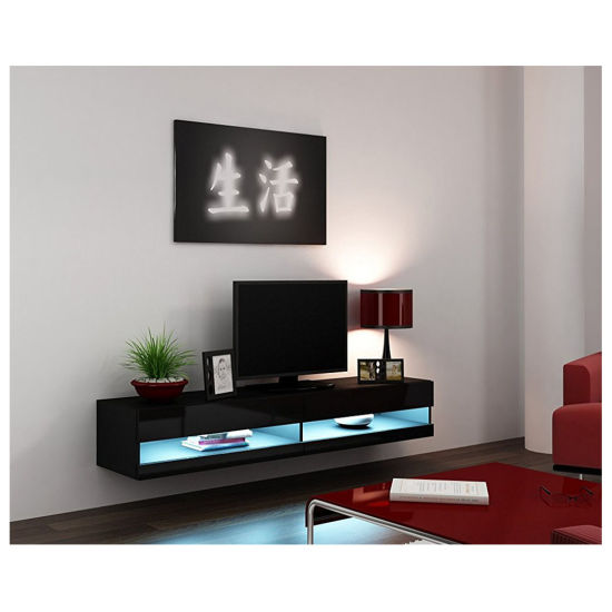 china modern living room cabinet design wall mount floating tv stand