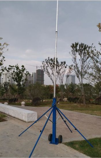 [Hot Item] Portable Light Pole Crank up Telescopic Mast Antenna Tower 6  Meter 18 Meter with Trolley Base Portable Light Tower
