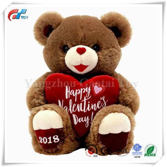 BSCI Factory Plush & Stuffed Toys with Heart for Valentine's Day