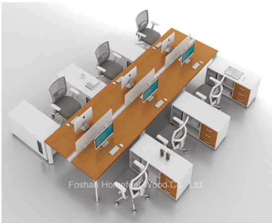 Modern Straight Work-Station with 6 Person Seats (HF-YZK016)