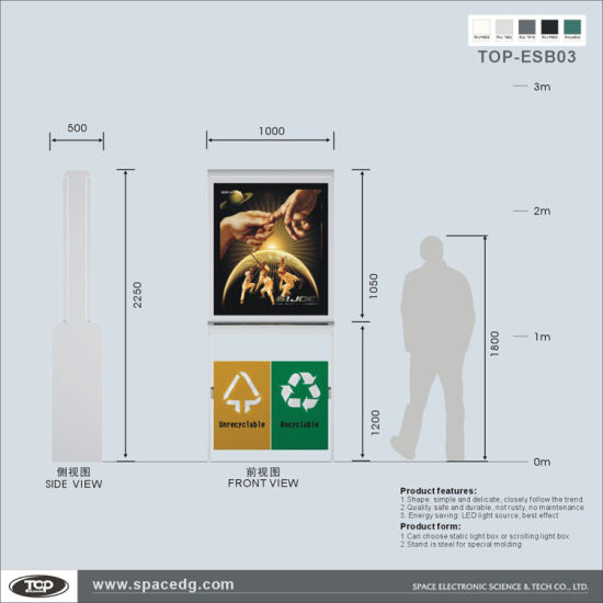 Double Sides Scrolling Aluminum Alloy Advertising Road Signs pictures & photos