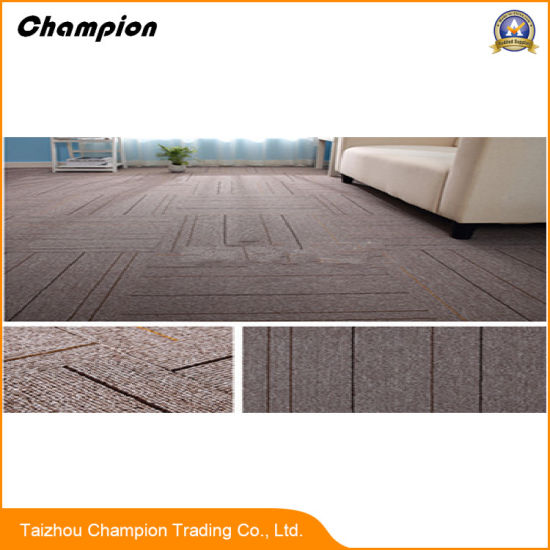 Pvc Rubber Back Carpet Tiles China Whole Waterproof Tile 50 50cm Commercial Usage Office 100 Pp