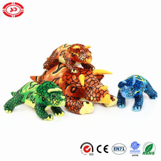 Fighting Dinosaur Crawling Real Toy Stuffed Plush Gift for Kids