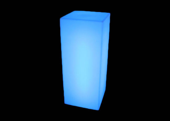 Illuminated Outdoor Furniture Glowing Pillar