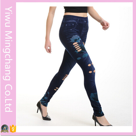 2016 Wholesale New Designed Hollow Seamless Sexy Cotton Jeans Tights pictures & photos