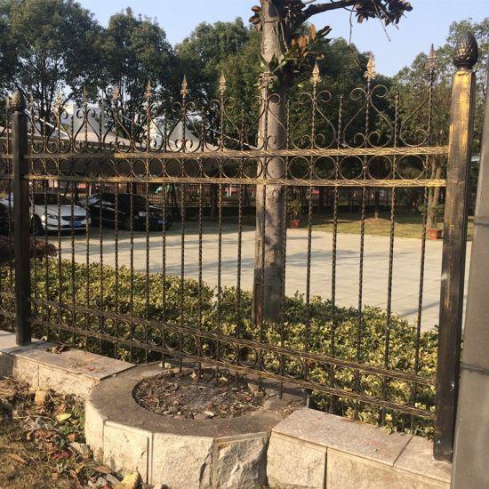 China Customized Hot Galvanized Wrought Iron Garden Fence Metal