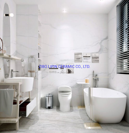 Cararra White Ceramic Wall Tile for Bathroom and Kitchen (300*600mm) pictures & photos