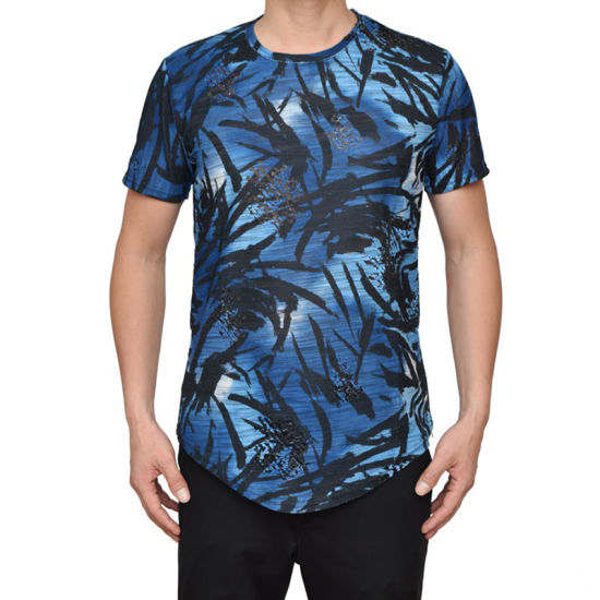 87b69a44f38 China Stylish Men′s Leisure Shirt Printed Shirt Casual Round Neck T ...