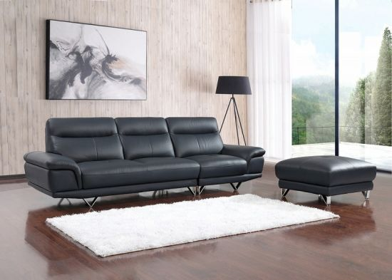 Hot Sell Italian Real Leather 4 Seat Sofa For Living Room (SBL 1708)