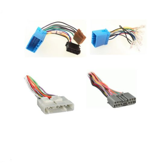 custom automobile cd player iso wiring harness assembly for honda