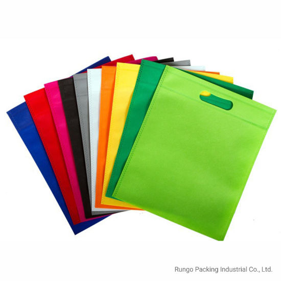 Wholesale Cheap D Cut Simple Non Woven Bags with Customized Logo
