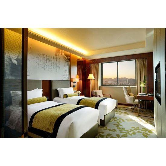 China Customized Walnut Veneer Hotel Bedroom Furniture For