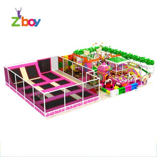 Newest Children Soft Indoor Playground Equipment with Trampoline Park
