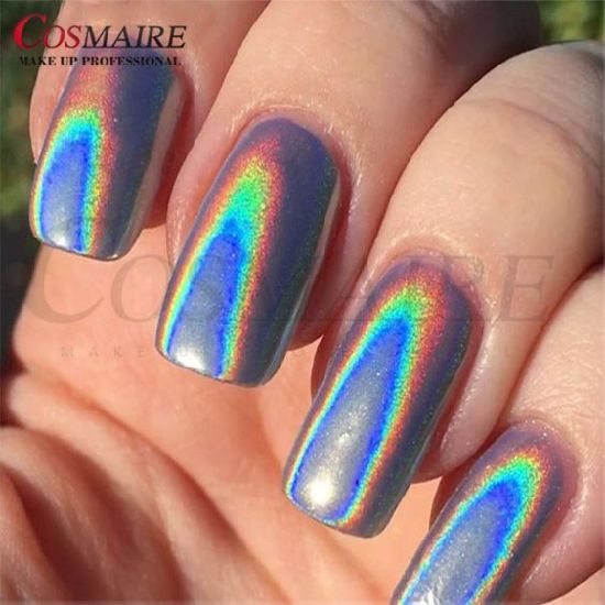 Nail Art Holographic Polish Rainbow Pigment