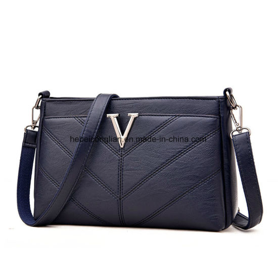 Guangzhou Fashion V Letter Leather Lady Cross Bag Women Brand. Get Latest  Price b7fabfb0ca5c6