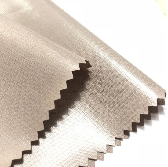 Coated 300d Polyester Oxford Fabric with Breathable Milky PU Coating