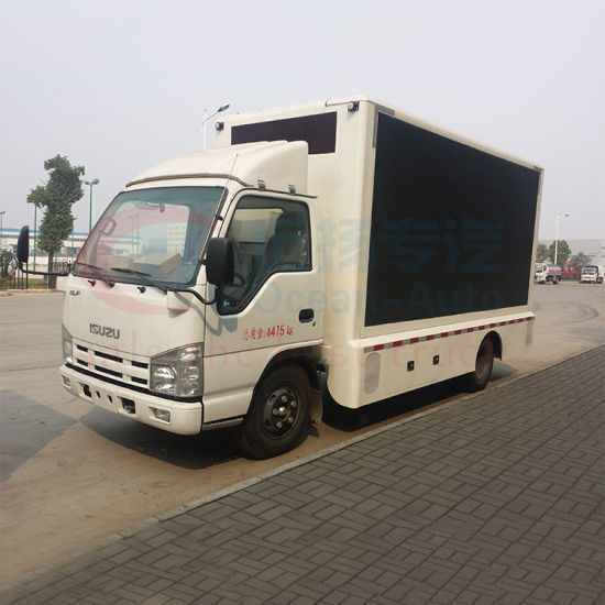 Isuzu Nkr 100p Three Side Screen Mobile LED Advertising Truck with Silent  Generator