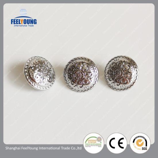Custom Logo Hollow Metal Gold Shank Sewing Fashion Buttons