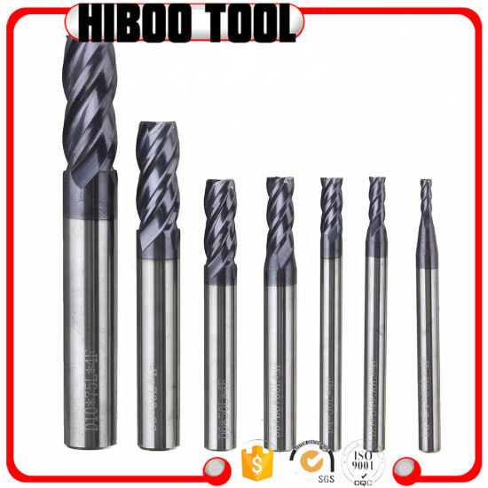 4-Flute Flattened Solid Carbide End Mills Customized Milling Cutters