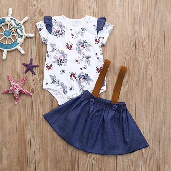 Factory Wholesale Baby Clothes Girls Dress Kid Clothing Set