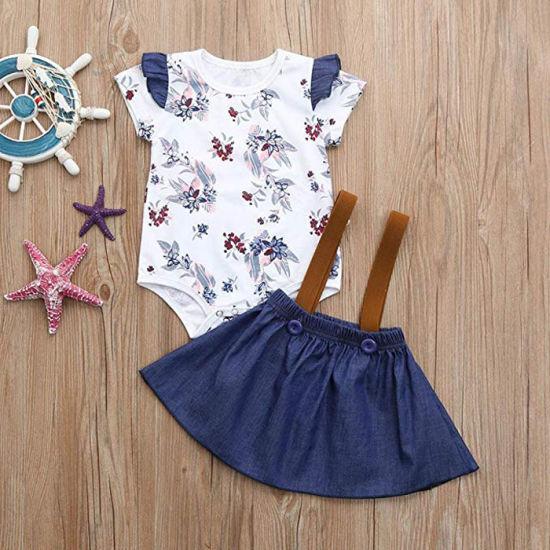 e345e50588a79 China Factory Wholesale Baby Clothes Girls Dress Kid Clothing Set ...