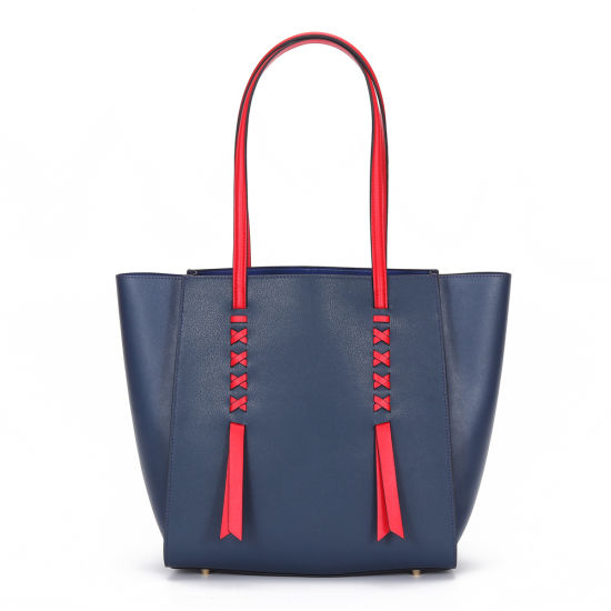Genuine Leather Handbags Tote Bags with Custom Printed Logo