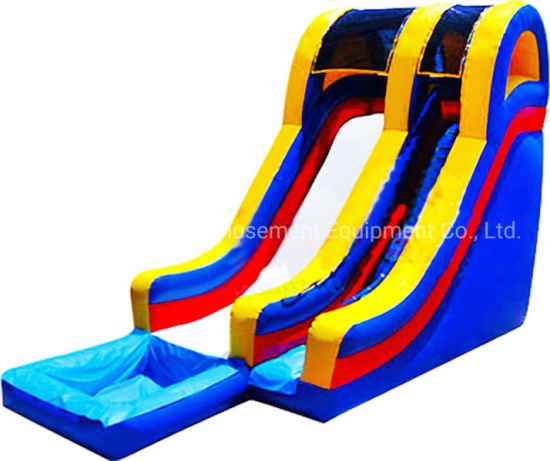 Fun Games Inflatable Water Slides Amusement Park with Pool pictures & photos