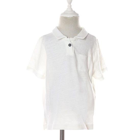 White Light Brown Little Boys Collared Polo Cotton T Shirts