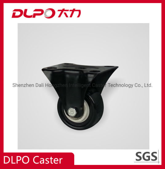 Lightweight Black Polyurethane and Rubber Casters for Luggage, Supermarket Carts, etc.