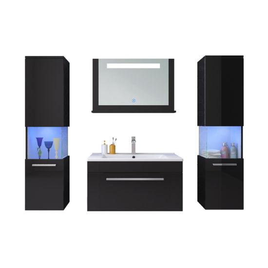 Luxury Event Glass Partition LED Blue Bathroom Bathroom Vanity