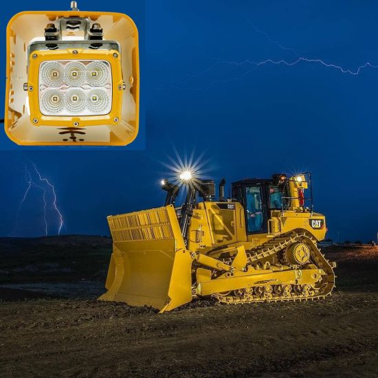 High Power 60W 6'' Flood LED Work Light Special for Heavy-Duty Truck Mining Caterpillar Excavator