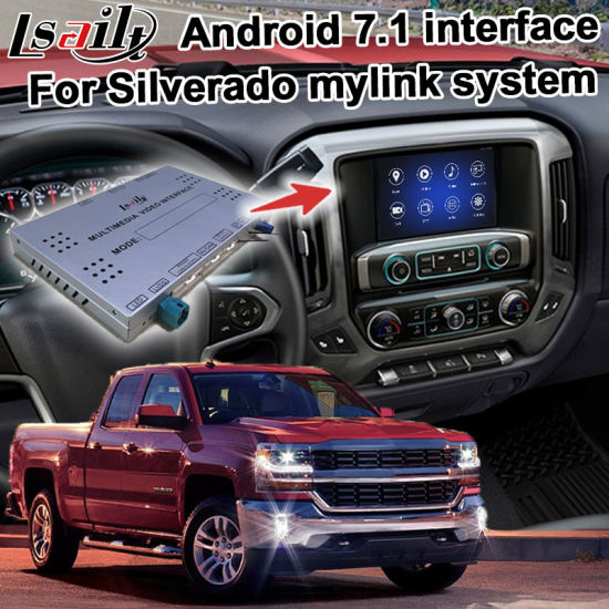 Lsailt Android GPS Navigation System Box for Chevrolet Silverado Colorado etc Video Interface Box GM Intellink Mylink Carplay System