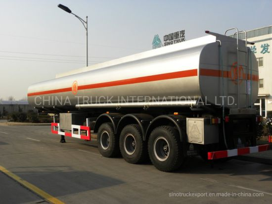 3 Axel 45000 Liters Fuel Tanker Trailer Crude Oil Tank Trailer for Transportation