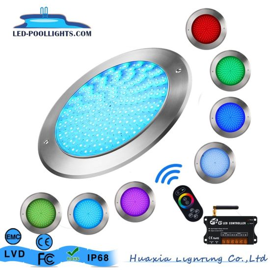 Huaxia Ultra Thin 8mm Thickness 18W 24W 35W 42W Underwater Lamp LED Swimming Pool Light with ERP Report