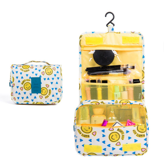 Portable Easy Carry Display Women Hanging Storage Cosmetic Makeup Bag