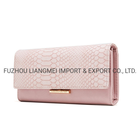 Women Purse Auto Parts Fashion Metal Decoration Card Holder Lady Long Wallet pictures & photos