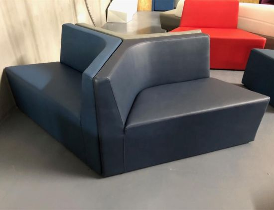 China Breakout Prisma Low Back Faux Leather Upholstery Sofa ...