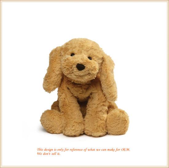 Soft Smiling Dog Animal Plush Baby Companion OEM