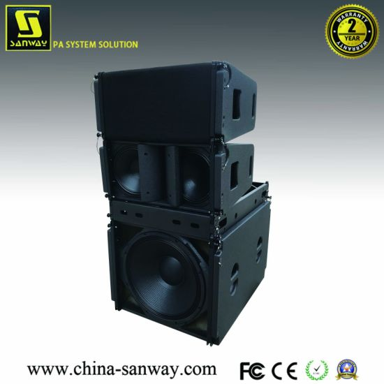 """Vera20 Dual 10"""" Woofers and One 3"""" Driver Compact Passive Top Line Array Speake & S32 18"""" Front 14"""" Back Line Array Subwoofer for Live Sound System"""