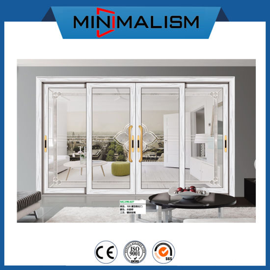 Aluminium 3 Tracks Sliding Door/ 4 Glass Doors for Building