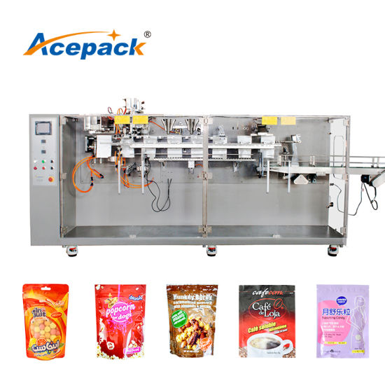 Factory Price Premade Milk Tea Shake Pouch Flat/ Doypack Zipper Bag Filling Nut Spices Raisin Solid Granule Pouch Packing Packaging Machine