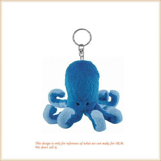 Custom Made Fluffy Blue Octopus Key Finder Animal Toys