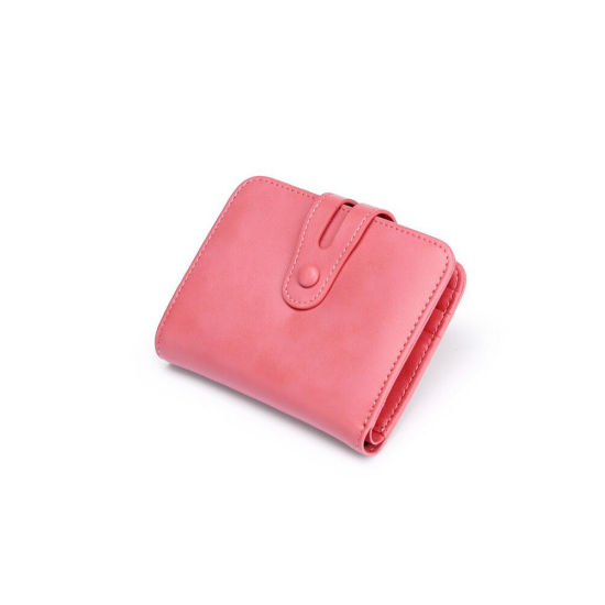 Genuine Leather Small Trifold Wallets for Women pictures & photos