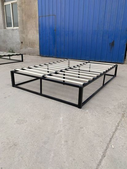 Wooden Slat Bed Frame With Legs Queen, Wood Slat Bed Frame Queen