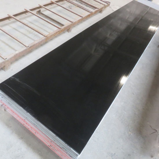 Whole Countertop Material Pure Black Acrylic Stone Solid Surface Sheet Pictures Photos