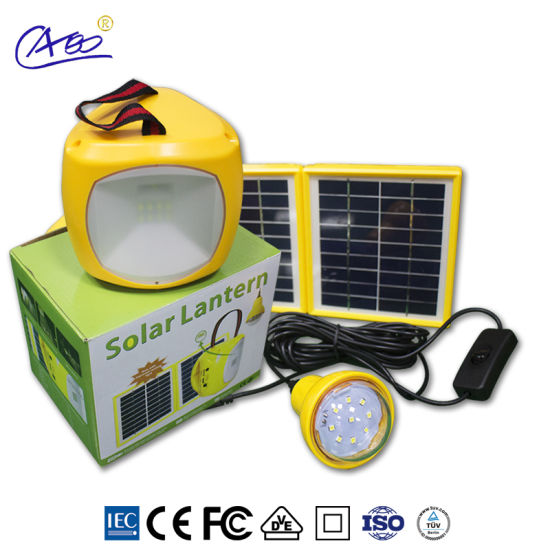 Solar Energy LED Lighting Solar Lantern for Camping with Bulb Mobile Charging pictures & photos