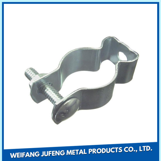 Customized Metal Stamping Steel Pipe Clamp for Construction