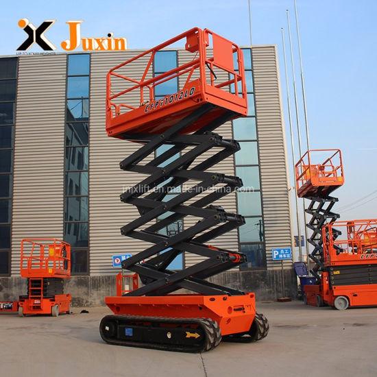 4m 6m 8m 10m Electric Power Self Propelled Hydraulic Automatic Scissor Lifting Platform on Tracks
